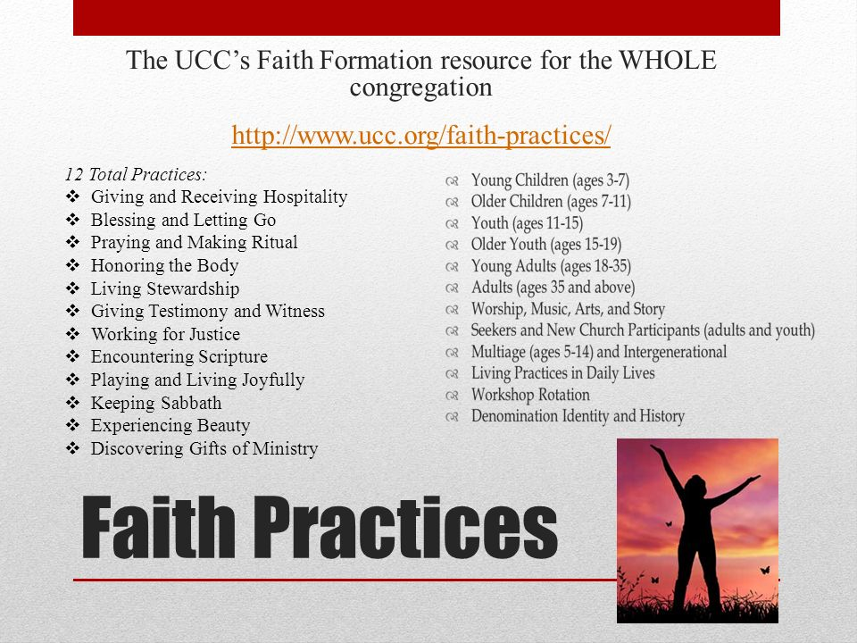Other Resources UCC Dialogues on Christian Faith Formation and Education Dialogue 1: Marcus Borg Dialogue 2: Doug Pagitt Dialogue 3: Geoffrey Black http://www.ucc.org/education And, another resource will be coming in time for Synod this summer…