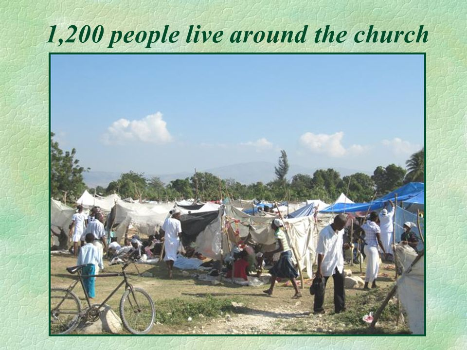 1,200 people live around the church