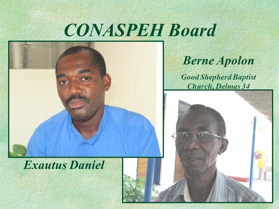 CONASPEH Board Exautus Daniel Berne Apolon Good Shepherd Baptist Church, Delmas 34