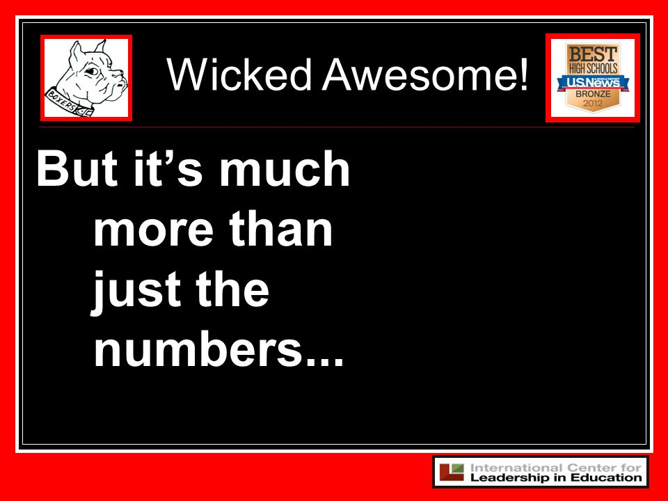 102 But its much more than just the numbers... Wicked Awesome!