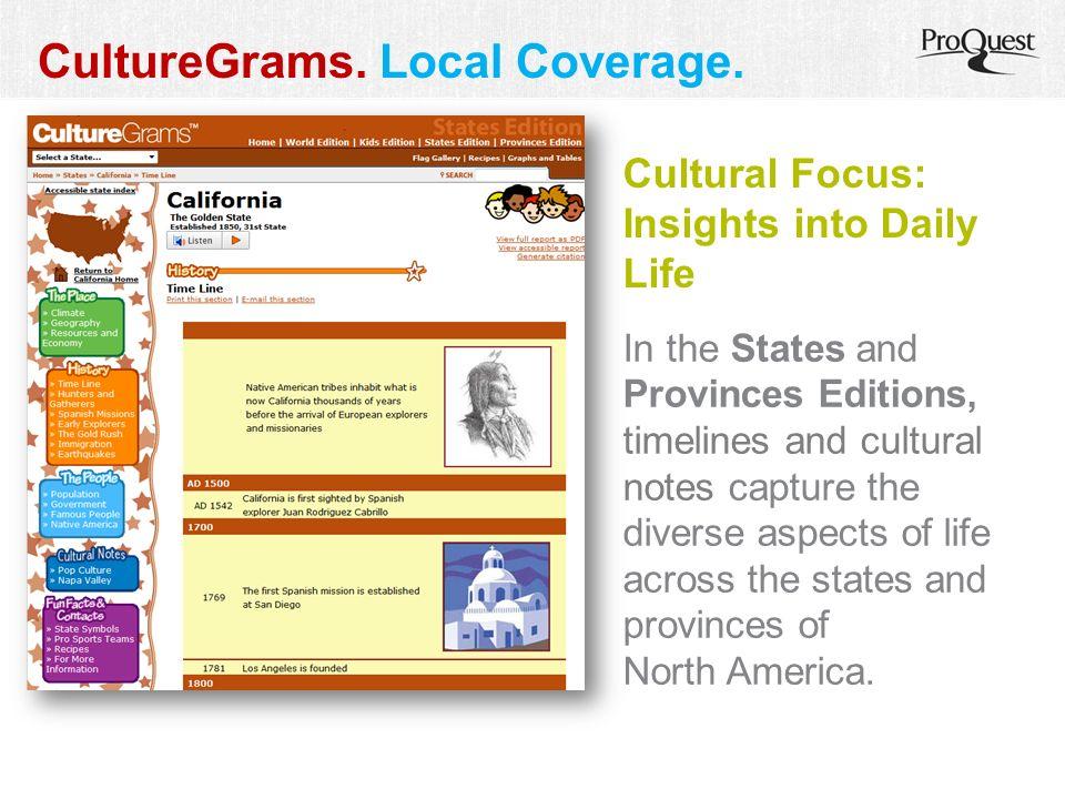 CultureGrams. Local Coverage.