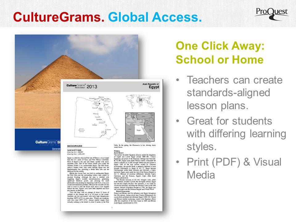 CultureGrams. Global Access.