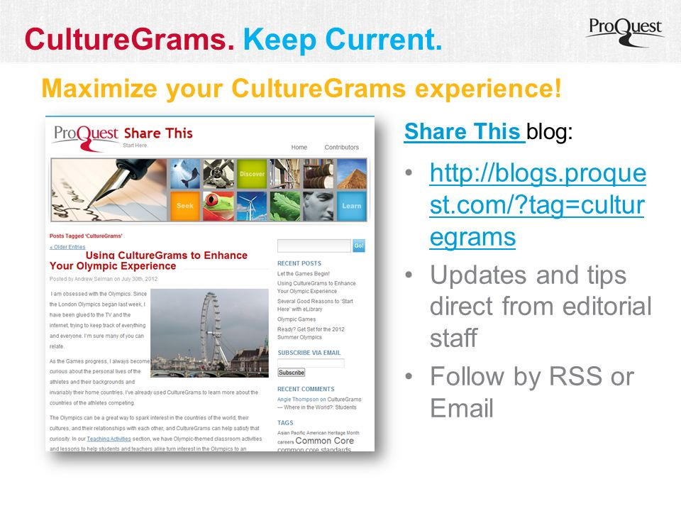 Maximize your CultureGrams experience.