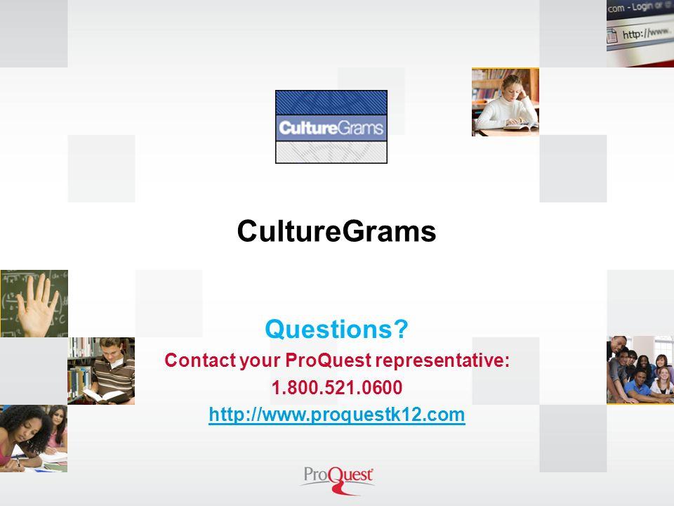 CultureGrams Questions.