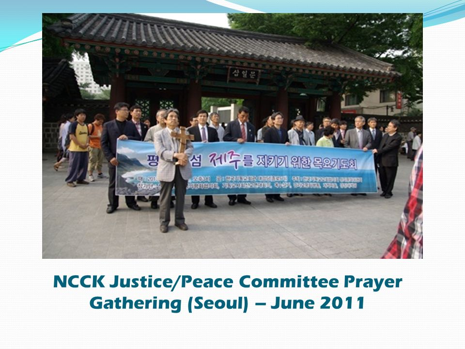 NCCK Justice/Peace Committee Prayer Gathering (Seoul) – June 2011