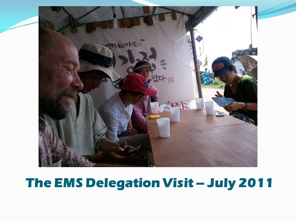 The EMS Delegation Visit – July 2011