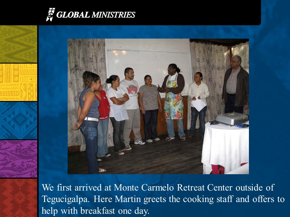 In our first church visit in Tegu, Pastor Efrain shared about his ministry to gang members and the work with children.