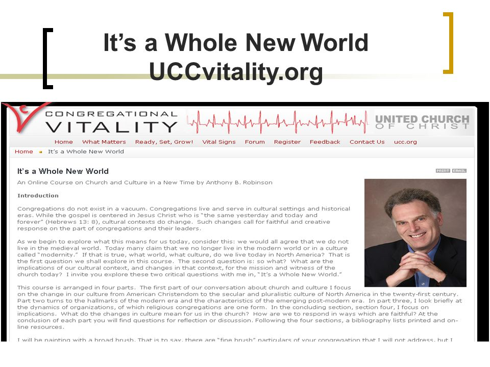 Its a Whole New World UCCvitality.org