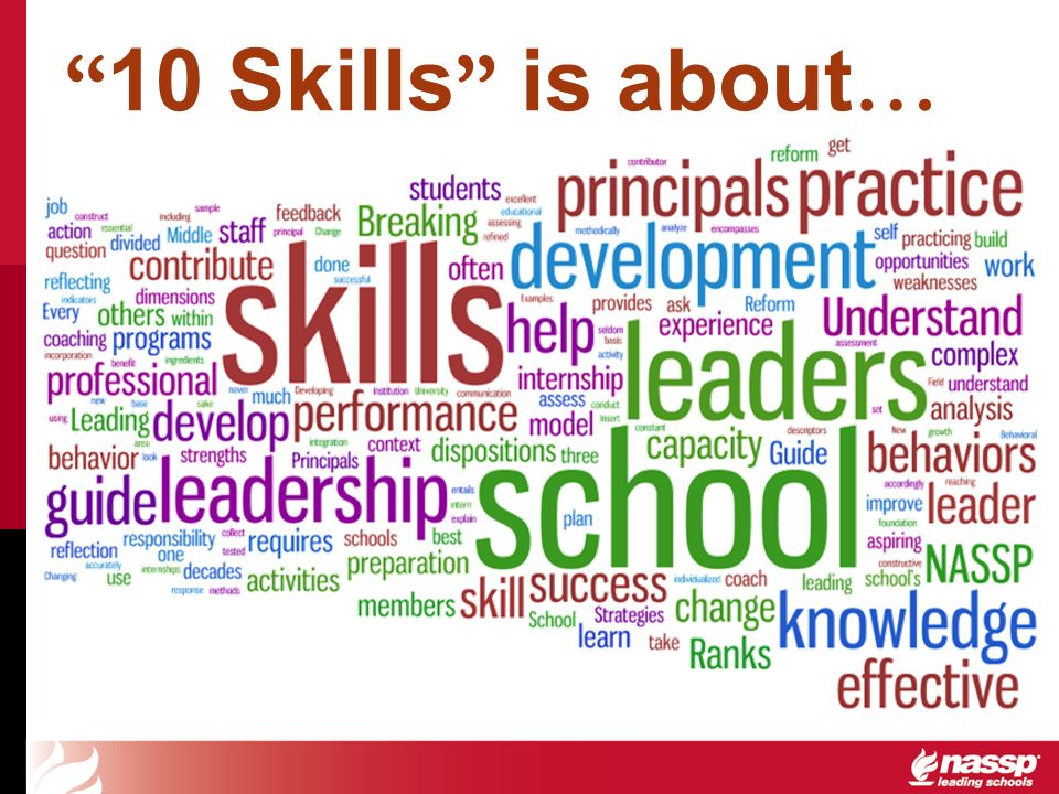 10 Skills is about …