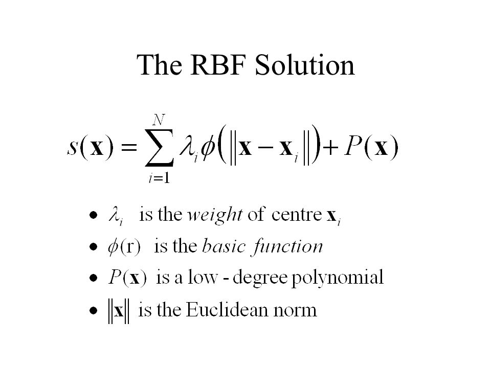 The RBF Solution