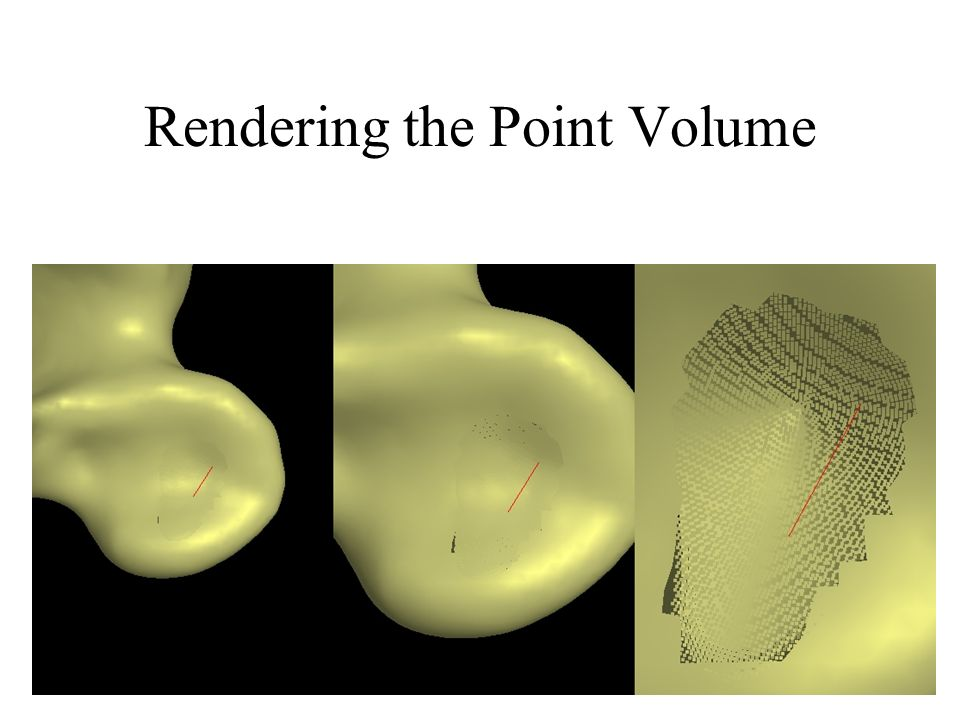 Rendering the Point Volume