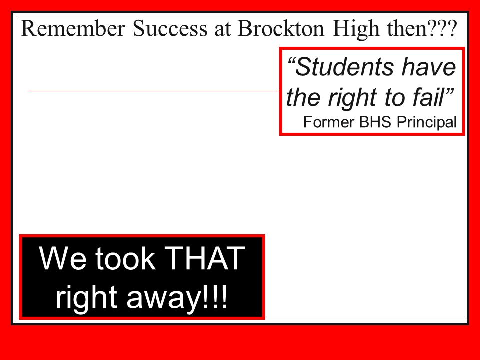 Remember Success at Brockton High then??.