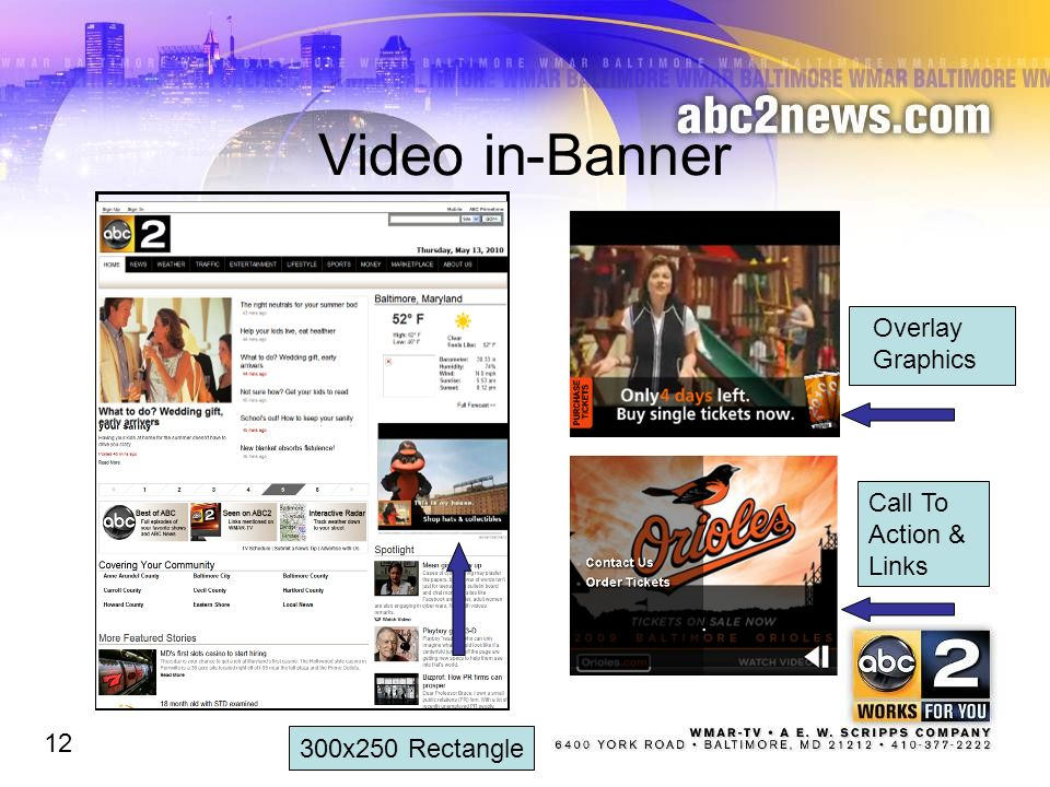 Video in-Banner 300x250 Rectangle Overlay Graphics Call To Action & Links 12