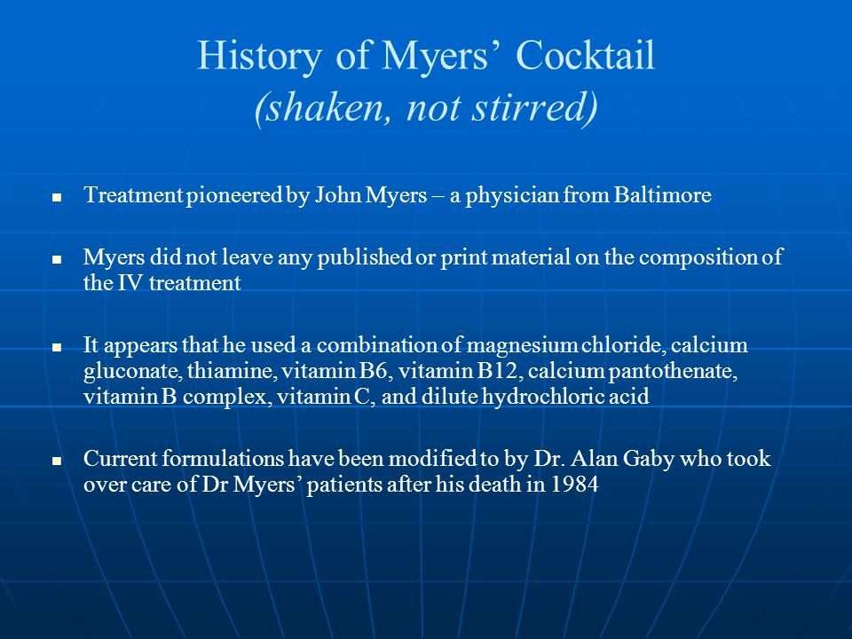 Other nutriceuticals, cont.Malic acid Theory: FMS is the result of local hypoxia to the muscles.