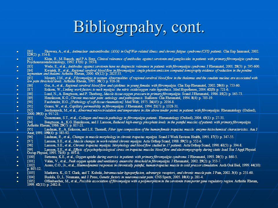 Bibliogrpahy, cont.