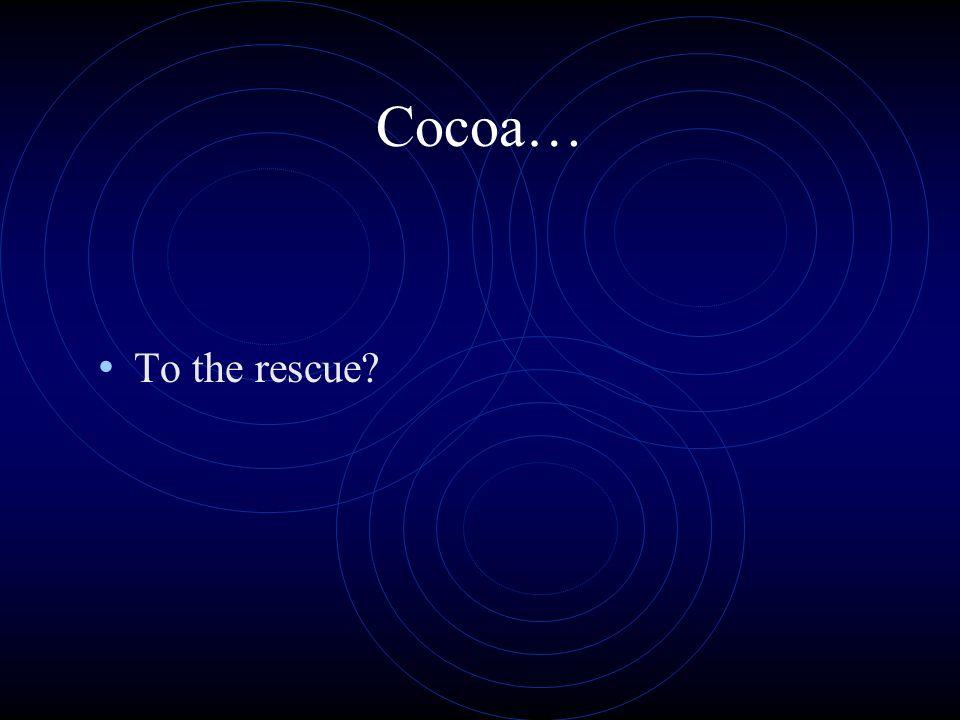 Cocoa… To the rescue