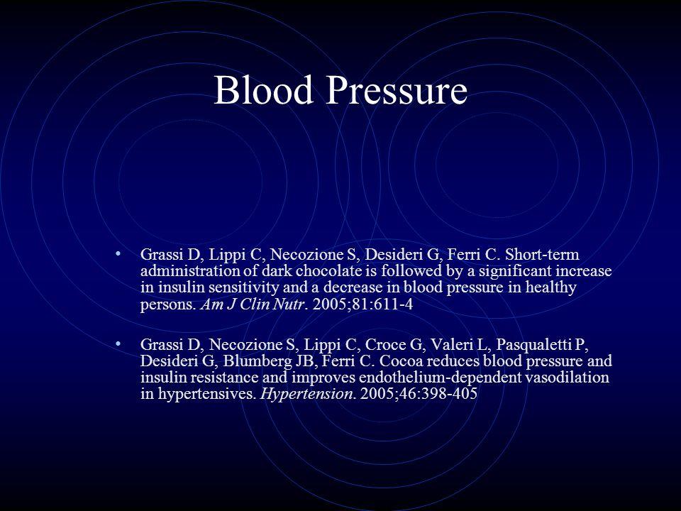 Blood Pressure Grassi D, Lippi C, Necozione S, Desideri G, Ferri C.