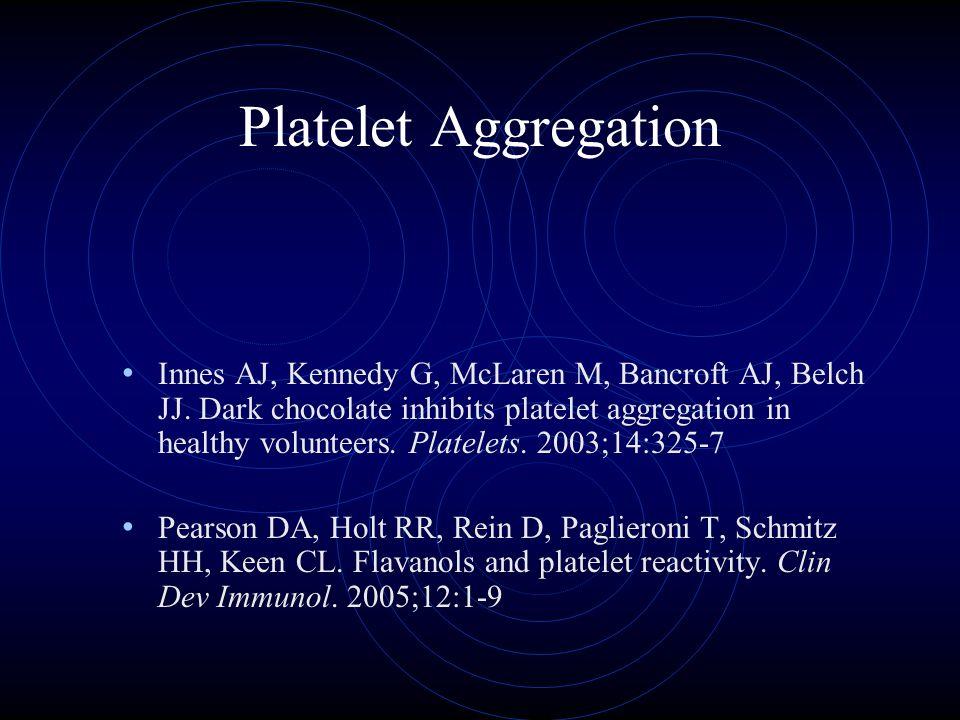 Platelet Aggregation Innes AJ, Kennedy G, McLaren M, Bancroft AJ, Belch JJ.