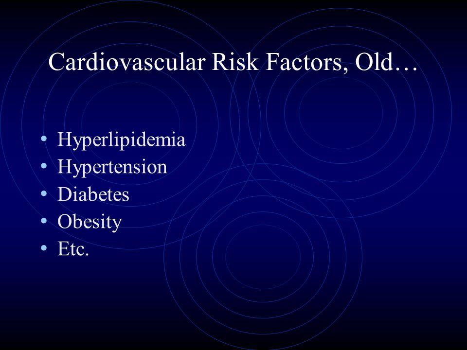 Cardiovascular Risk Factors, Old… Hyperlipidemia Hypertension Diabetes Obesity Etc.