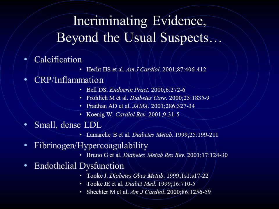 Incriminating Evidence, Beyond the Usual Suspects… Calcification Hecht HS et al.