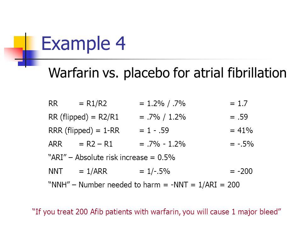 Example 4 Warfarin vs.