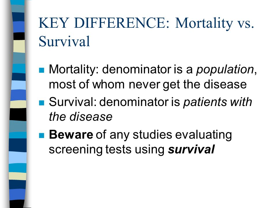 KEY DIFFERENCE: Mortality vs.
