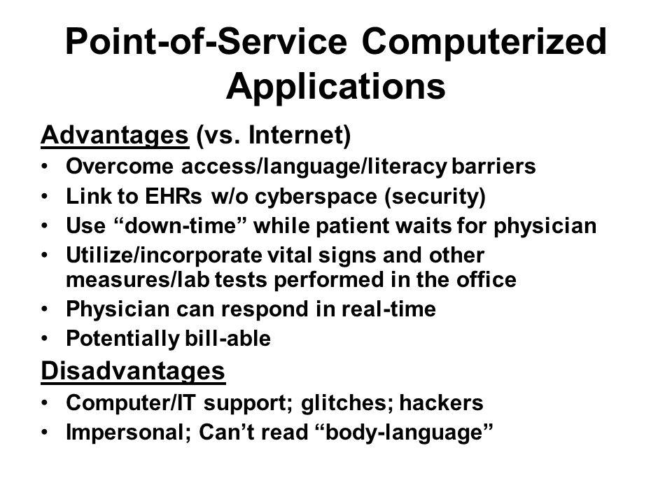 Advantages (vs.