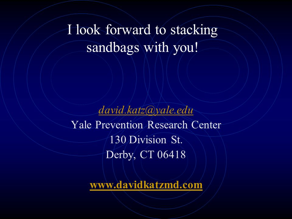 I look forward to stacking sandbags with you.