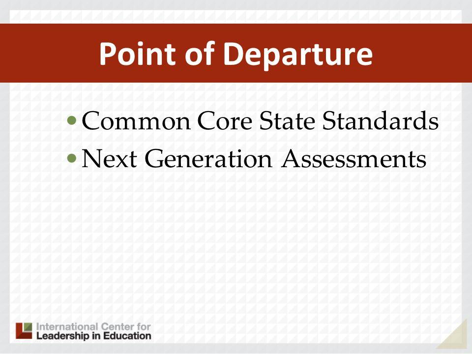 Major Changes Impacting Title I Eligible Students Fewer Standards Higher Standards Application Based Assessments