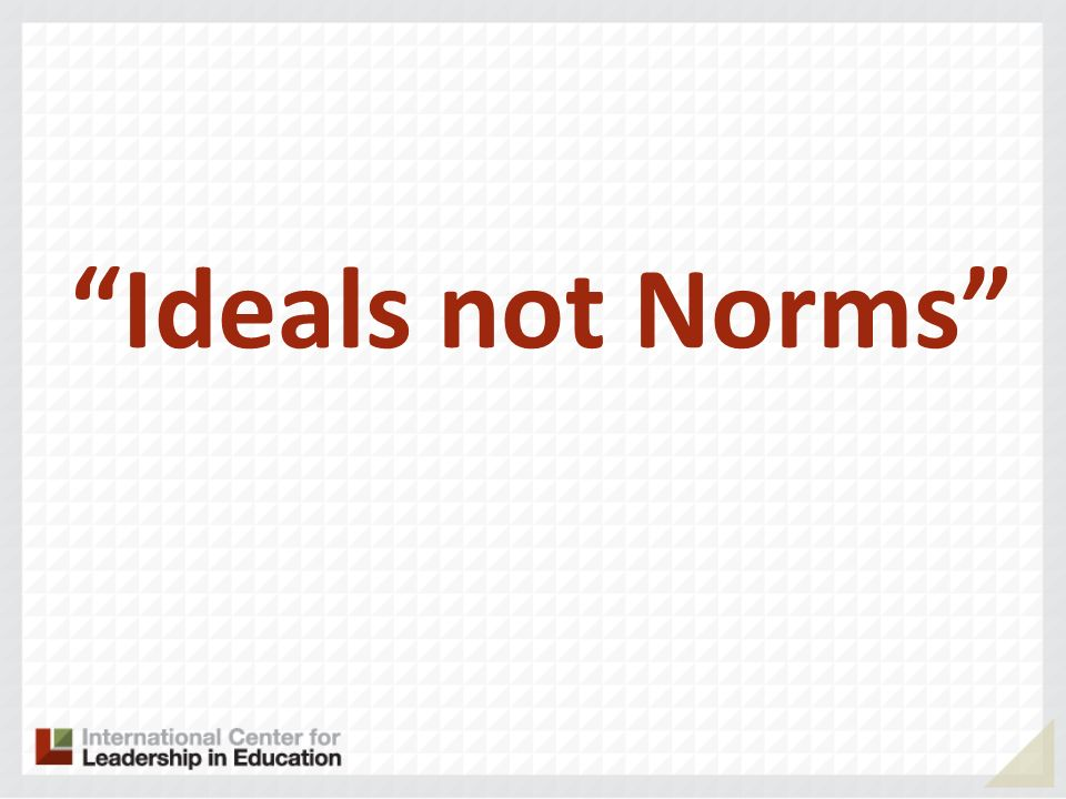 Ideals not Norms