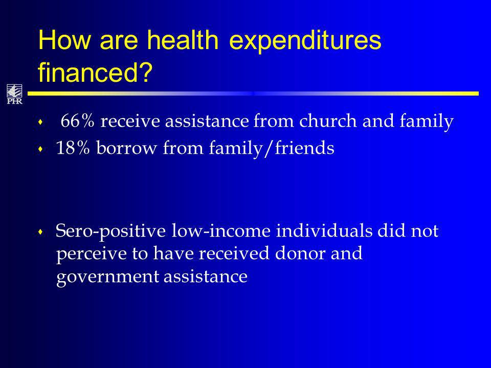 How are health expenditures financed.