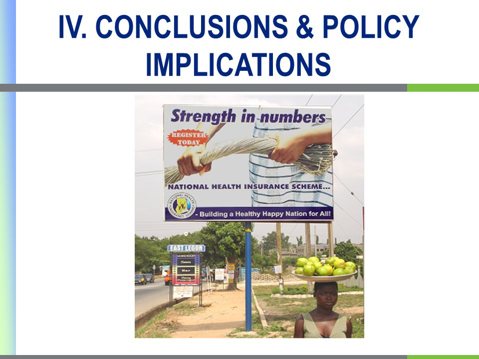 IV. CONCLUSIONS & POLICY IMPLICATIONS