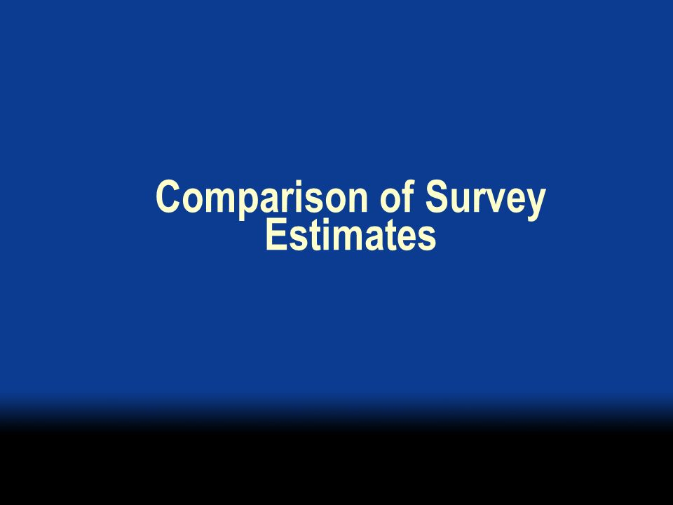 Comparison of Survey Estimates