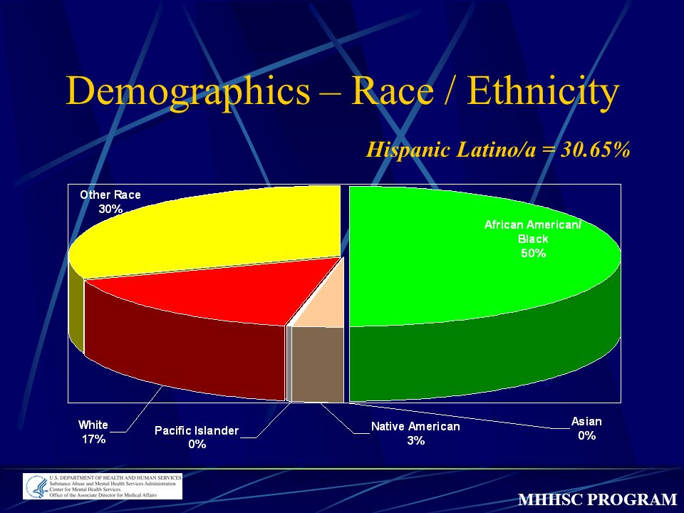 MHHSC PROGRAM Hispanic Latino/a = 30.65% Demographics – Race / Ethnicity