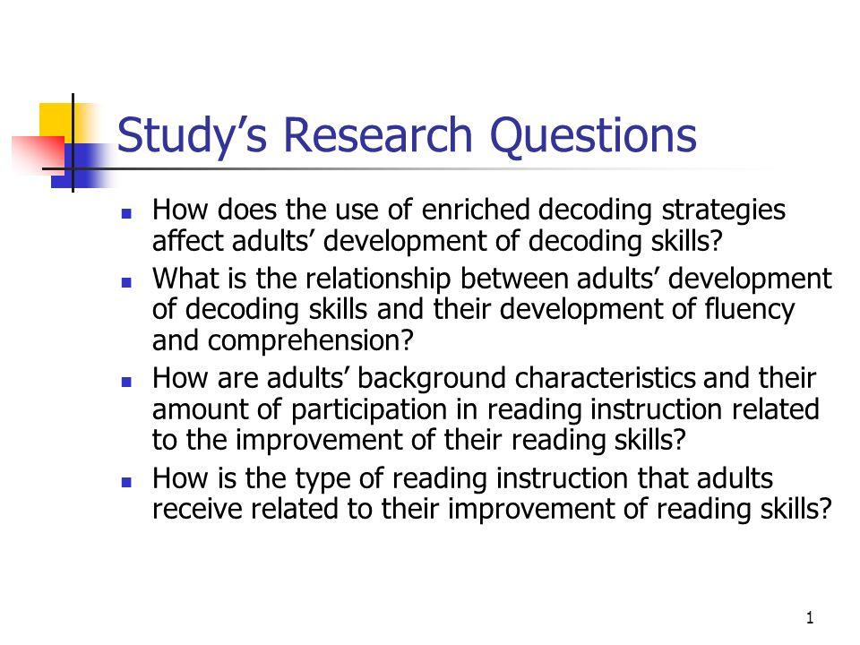 Building a Knowledge Base for Teaching Adult Decoding Richard Venezky, Principal Investigator Deborah Knight, Co-Investigator University of Delaware J