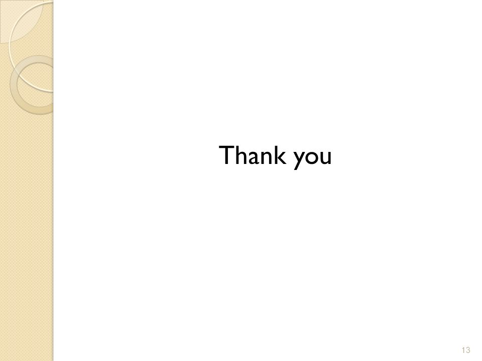 Thank you 13