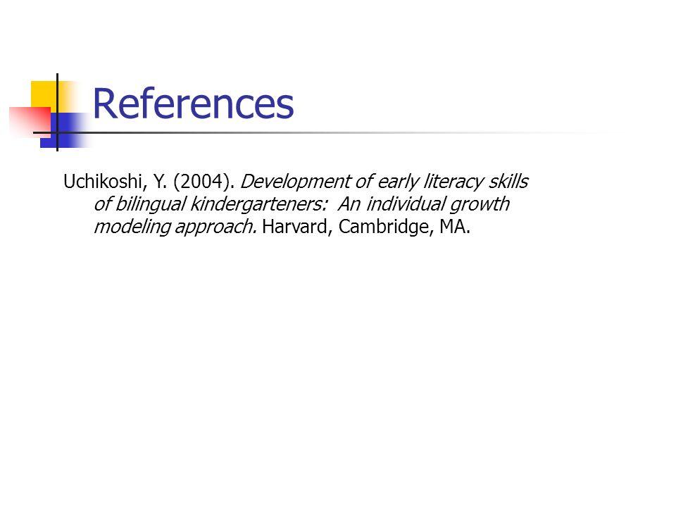 References Uchikoshi, Y. (2004).