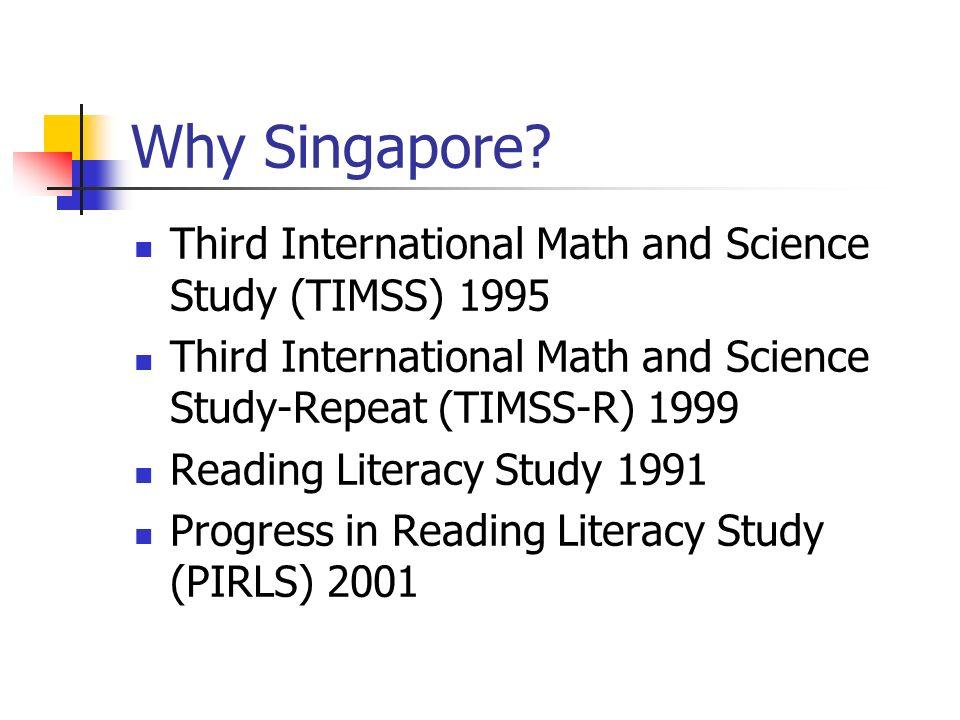 Why Singapore.