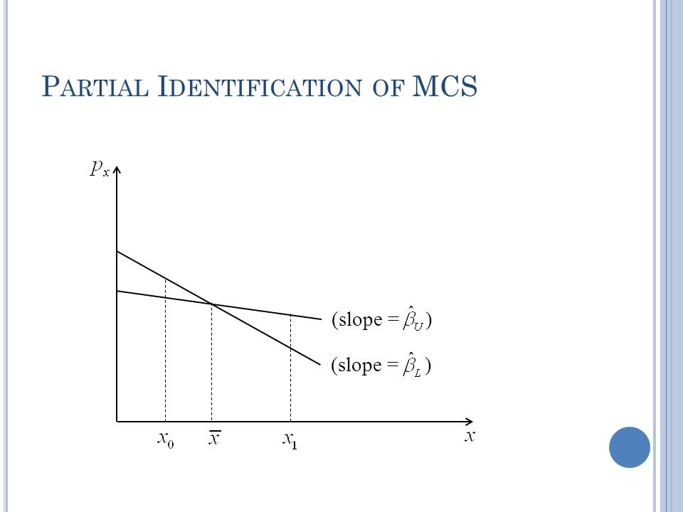 P ARTIAL I DENTIFICATION OF MCS (slope = )