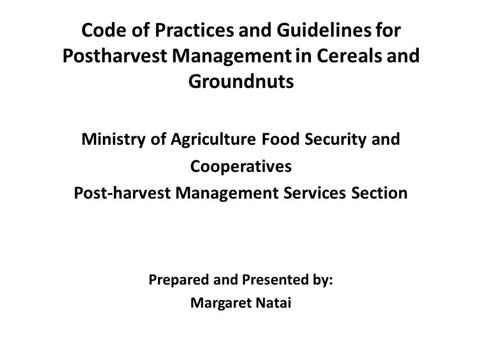 Reduction of postharvest loses In developing countries including Tanzania, losses in processing, storage and handling tend to be rather high because of poor facilities, infrastructures and frequently inadequate knowledge of methods to care for crops properly.