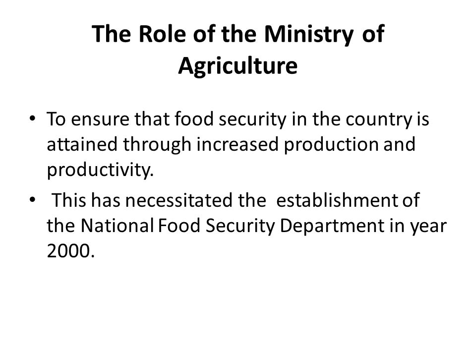 Efforts to reduce postharvest losses Postharvest Management Services Section under National Food Security Department has a mandate to provide technical backstopping on postharvest management to Local Government Authority staff all over the country.