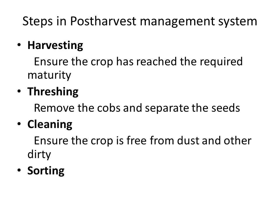 Inadequate research in postharvest management Inadequate linkage of stakeholders involved in postharvest management issues.