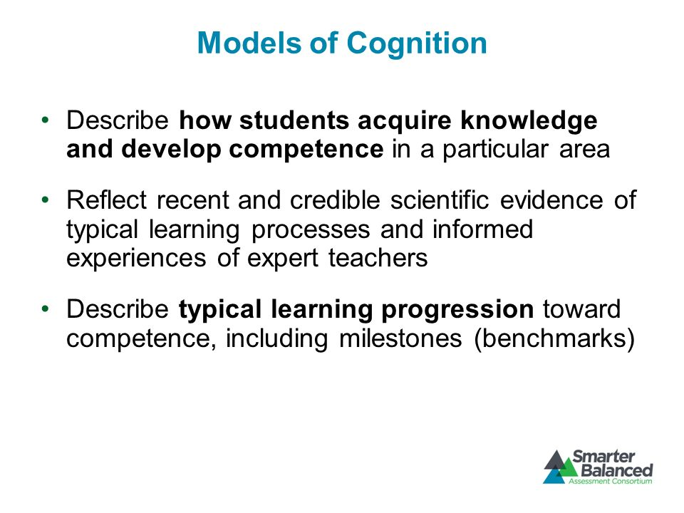 Observation Models A set of specifications for assessment tasks that will elicit illuminating responses from students The tasks or situations are linked to the cognitive model of learning and should prompt students to say, do, or create something that provides evidence to support inferences about students knowledge, skills, and cognitive processes