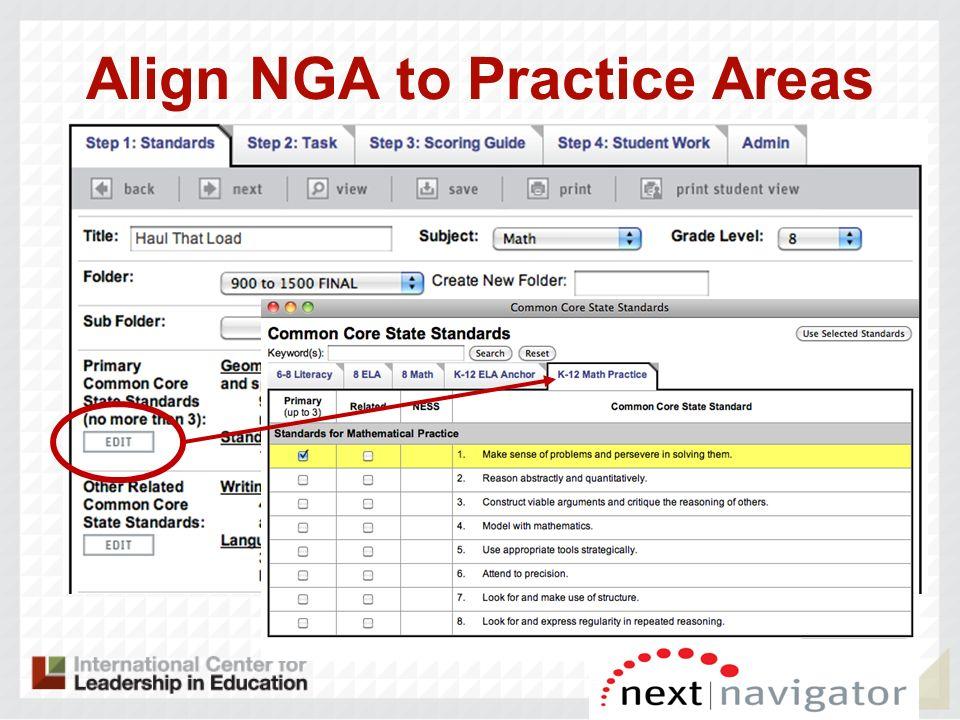 Align NGA to Practice Areas