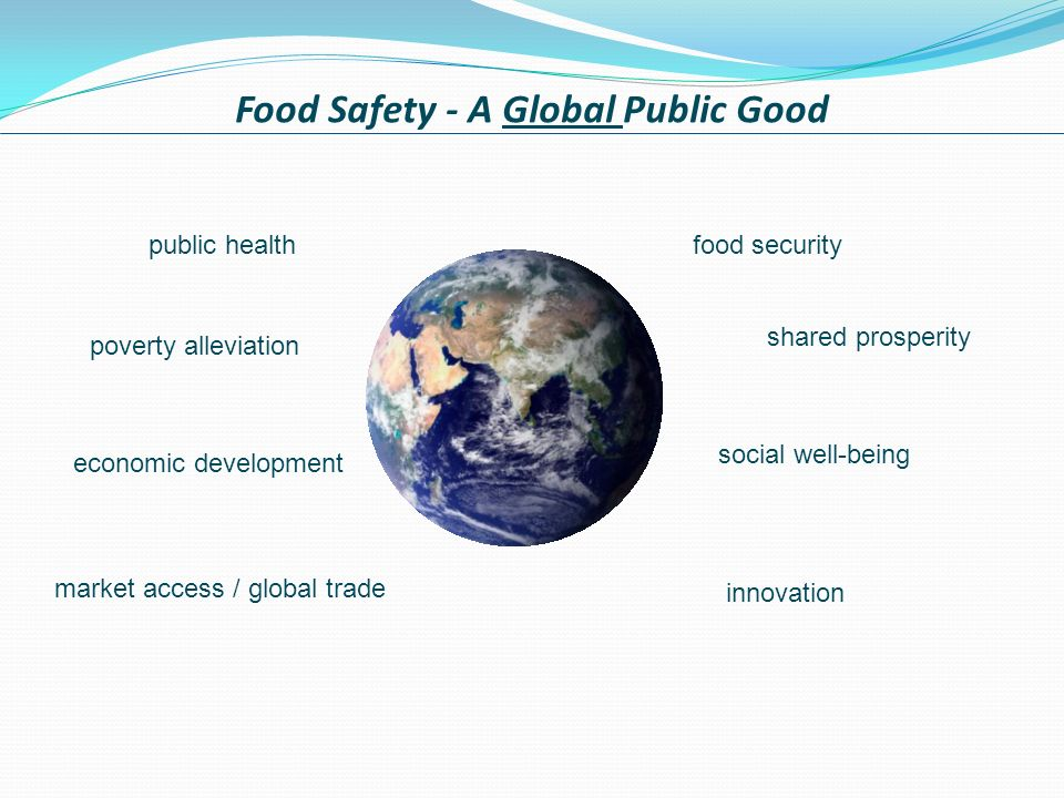Food Safety - A Global Public Good shared prosperity food security economic development public health poverty alleviation market access / global trade