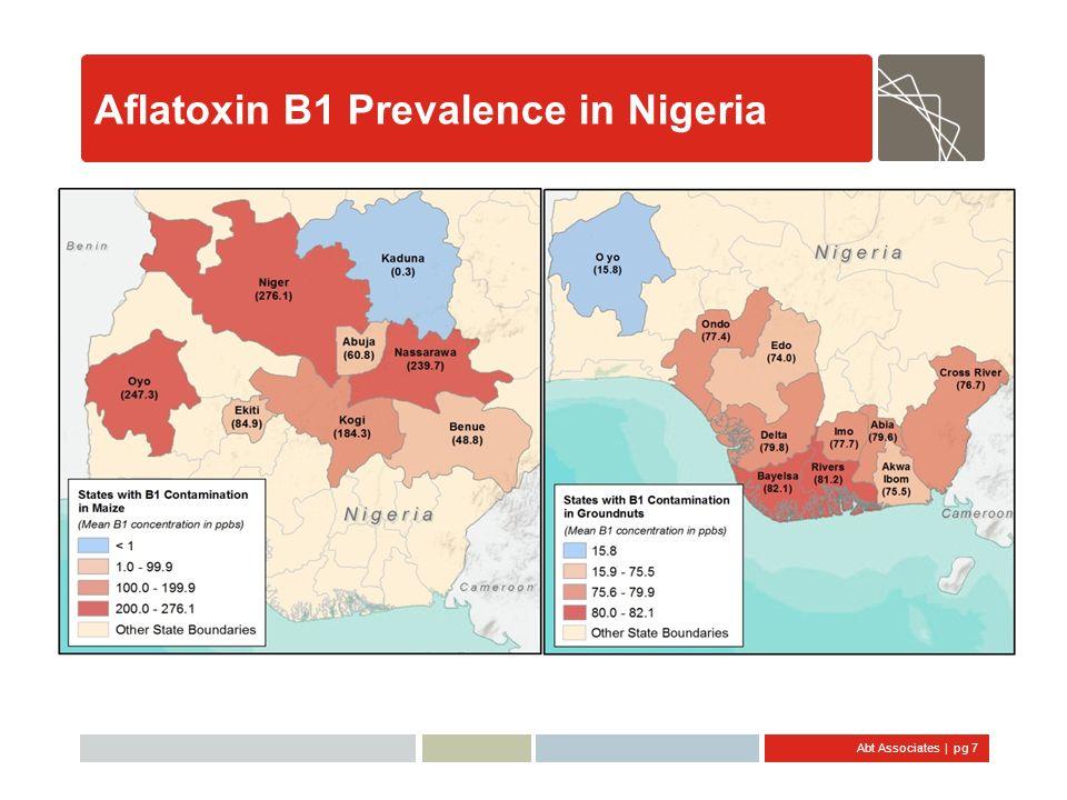 Abt Associates   pg 8 Aflatoxin B1 Prevalence in Tanzania