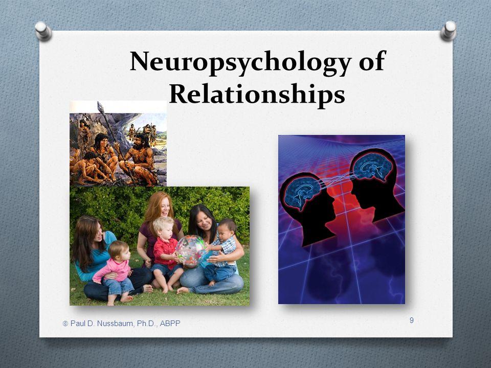 Neuropsychology of Relationships Paul D. Nussbaum, Ph.D., ABPP 9