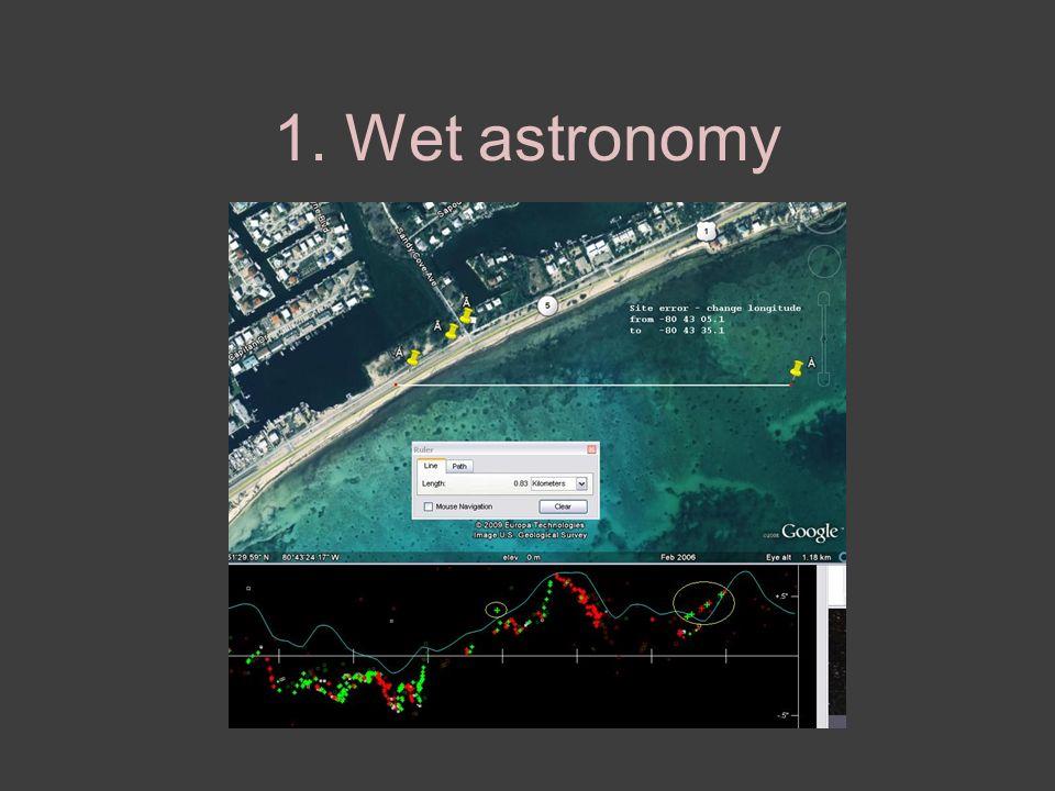 1. Wet astronomy