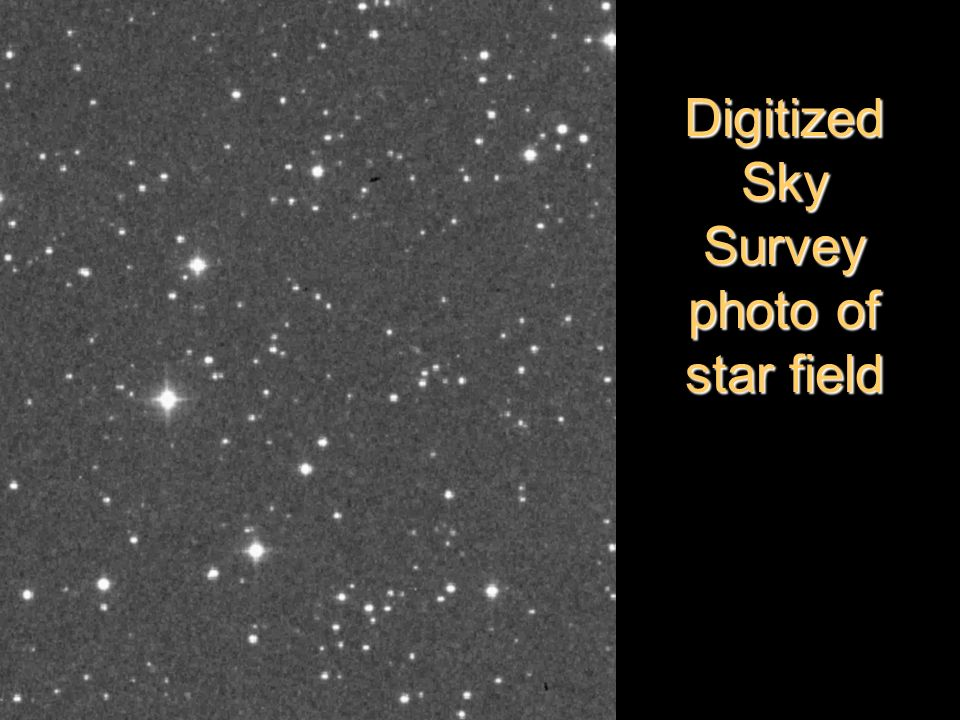Digitized Sky Survey photo of star field