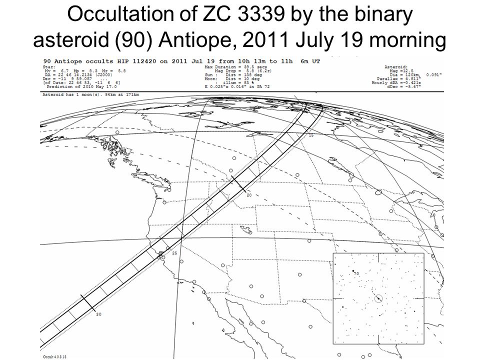 Occultation of ZC 3339 by the binary asteroid (90) Antiope, 2011 July 19 morning